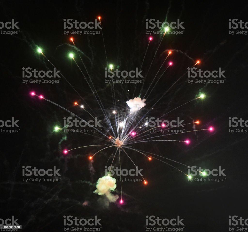 Fireworks Hang stock photo