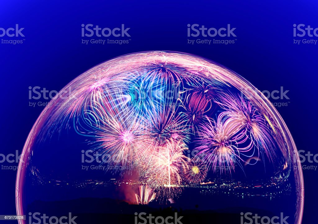 Fireworks images stock photo