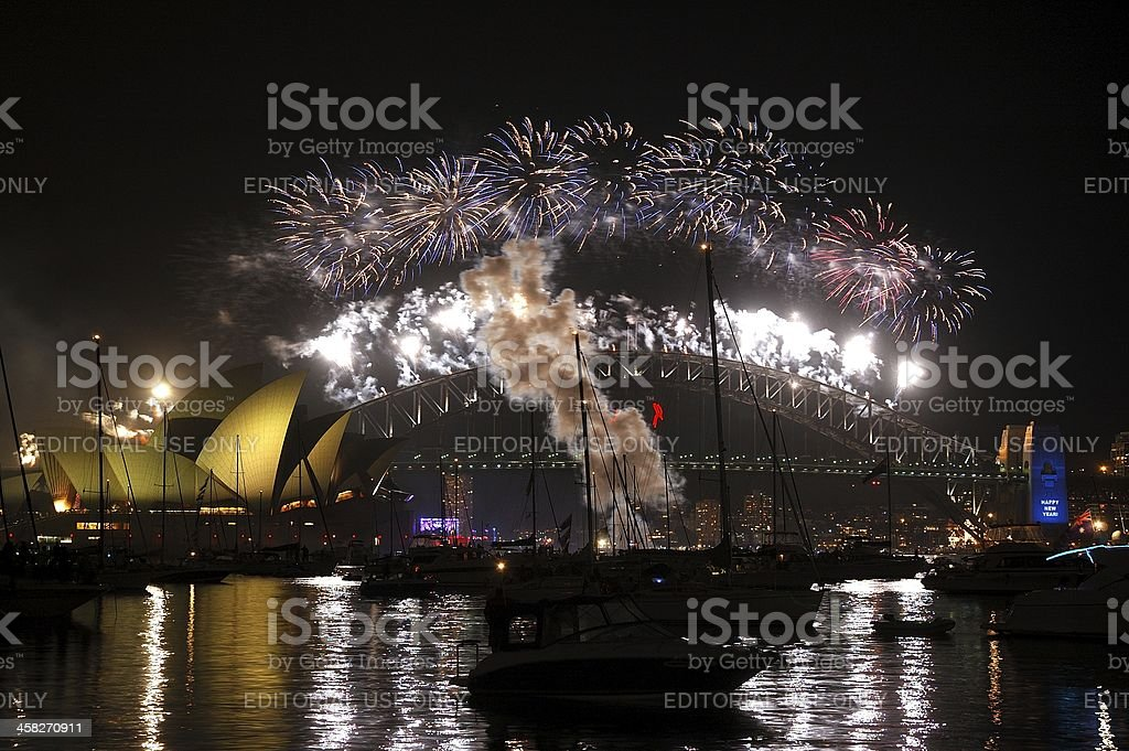 Fireworks in action! royalty-free stock photo
