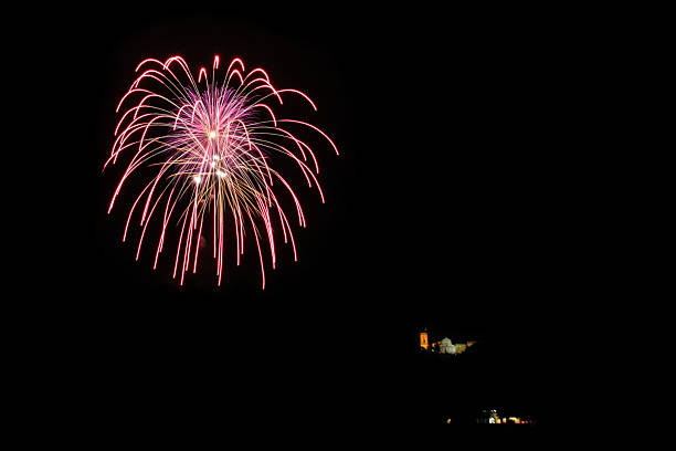 Fireworks in Florence stock photo