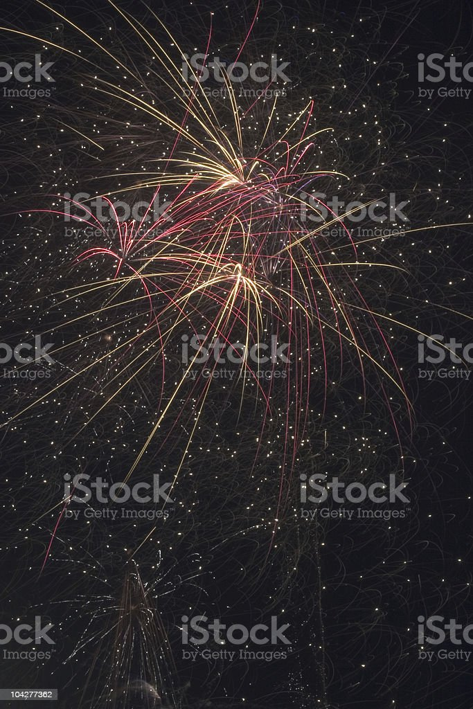 Fireworks in Independence stock photo
