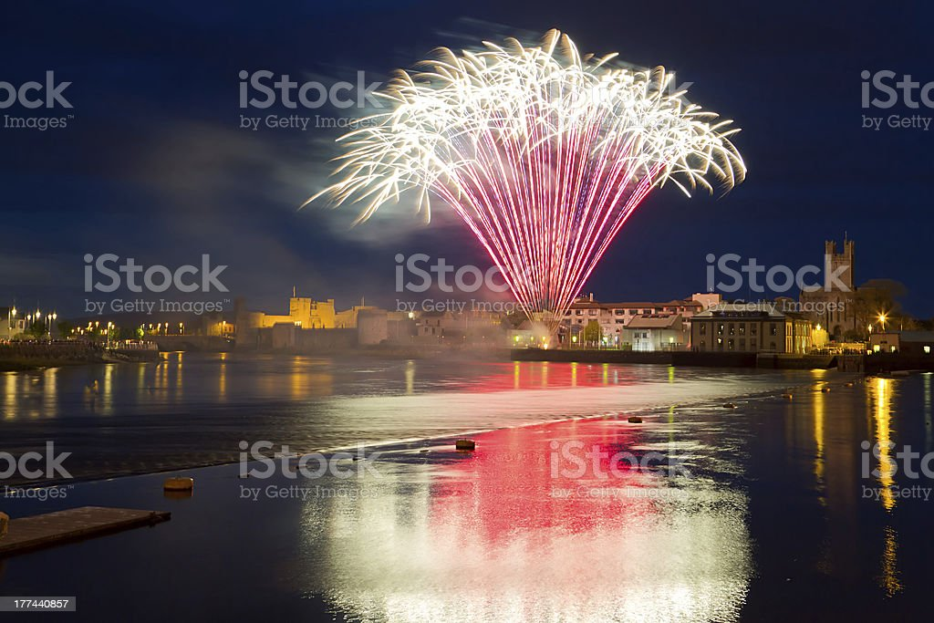Fireworks in Limerick stock photo