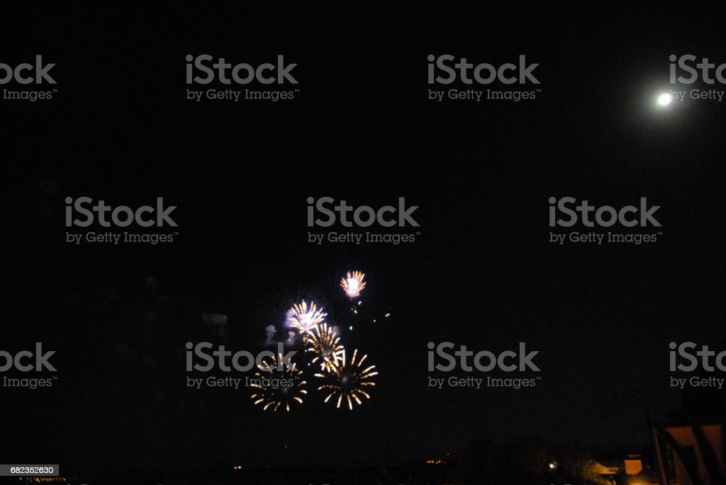 Feuerwerk in Spanien foto stock royalty-free