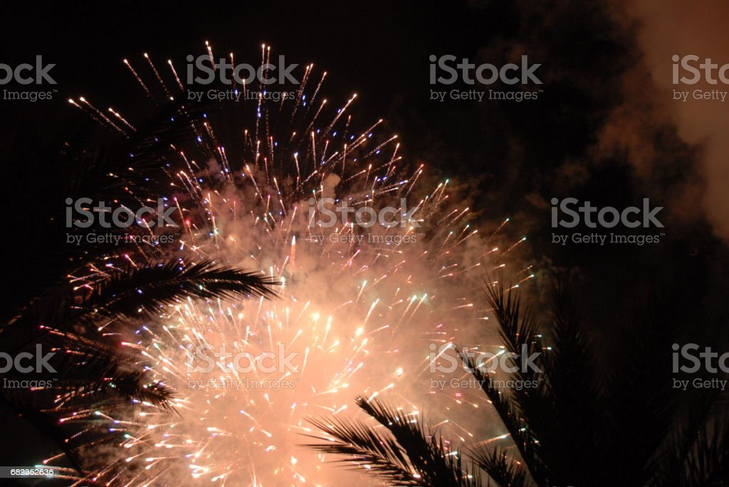 Feuerwerk in Spanien royalty free stockfoto