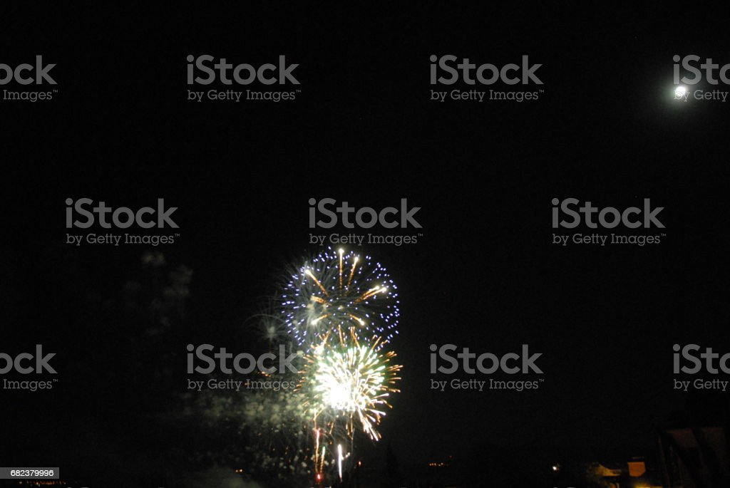 Feuerwerk in Spanien royalty-free stock photo