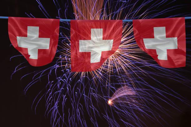 Cтоковое фото Fireworks in Switzerland