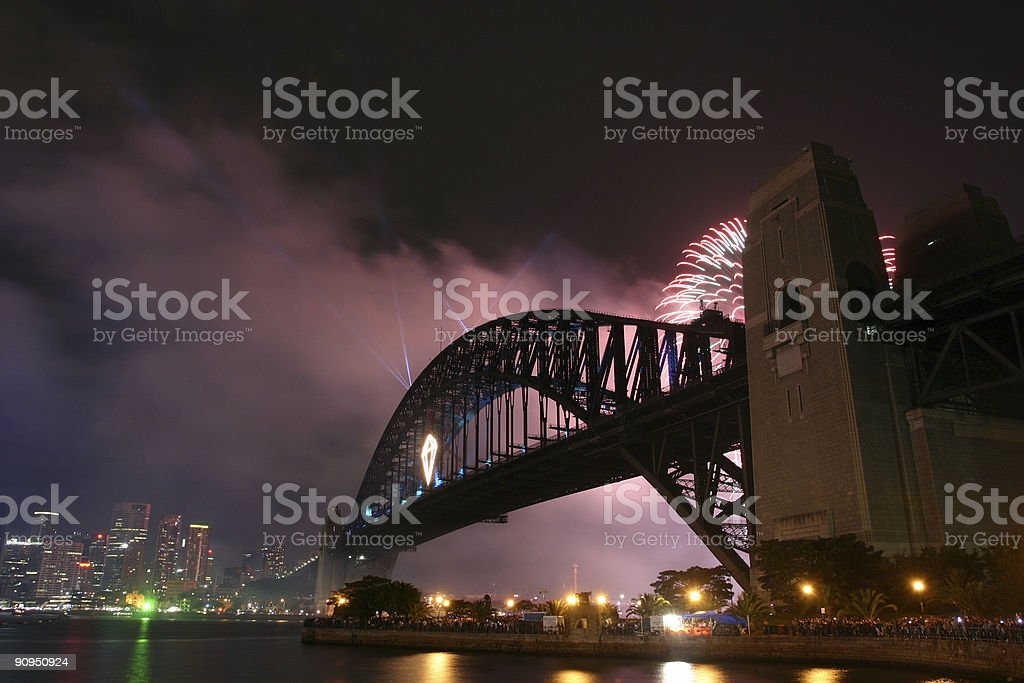 fireworks in sydney royalty-free stock photo