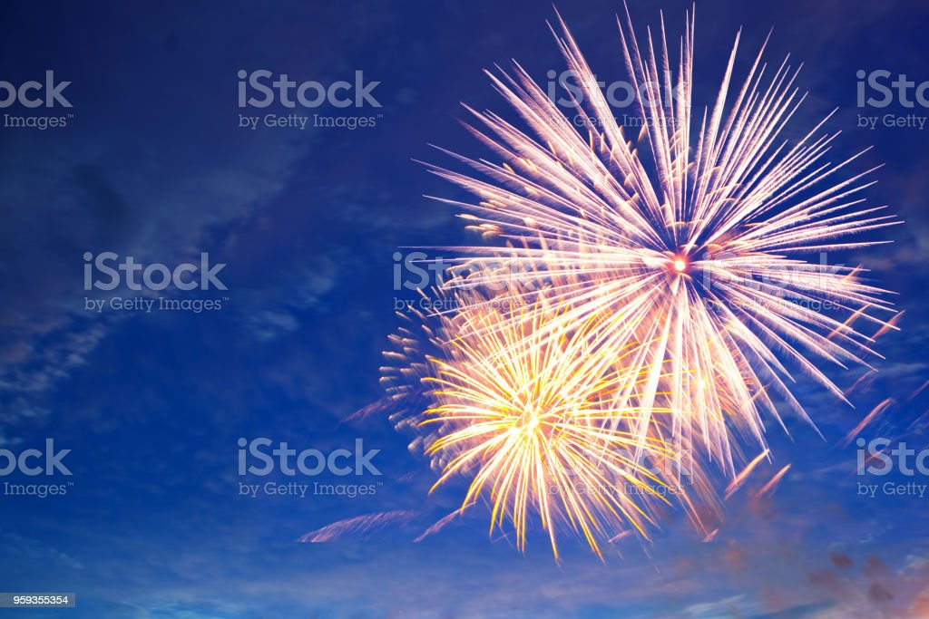 Fireworks in the sky, a festive show Fireworks in the sky, a festive show. Abstract Stock Photo