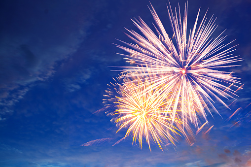 Fireworks In The Sky A Festive Show Stock Photo - Download Image Now