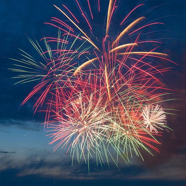 Fireworks in the sky stock photo