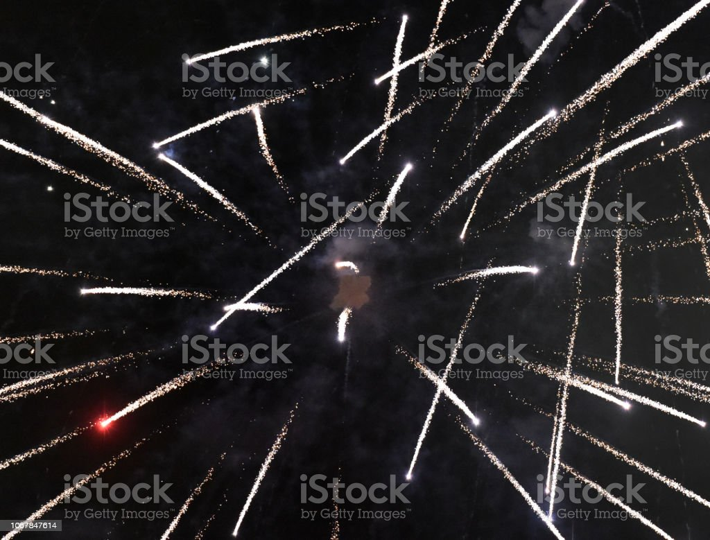 Fireworks Intersect stock photo