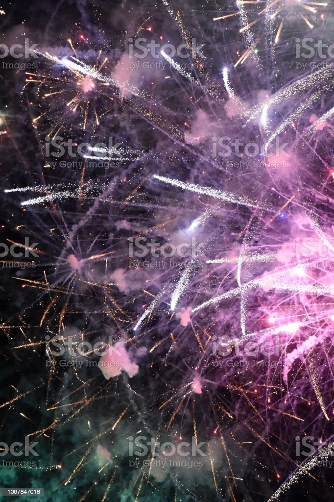 Fireworks Invitation stock photo