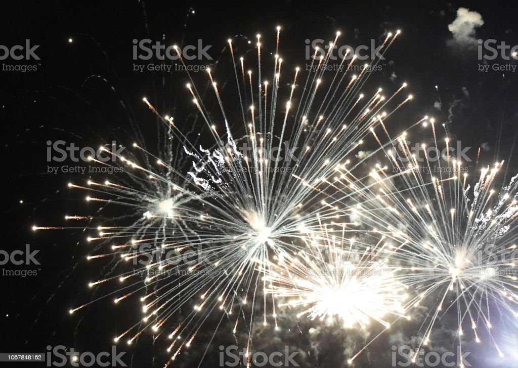 Fireworks Layout stock photo