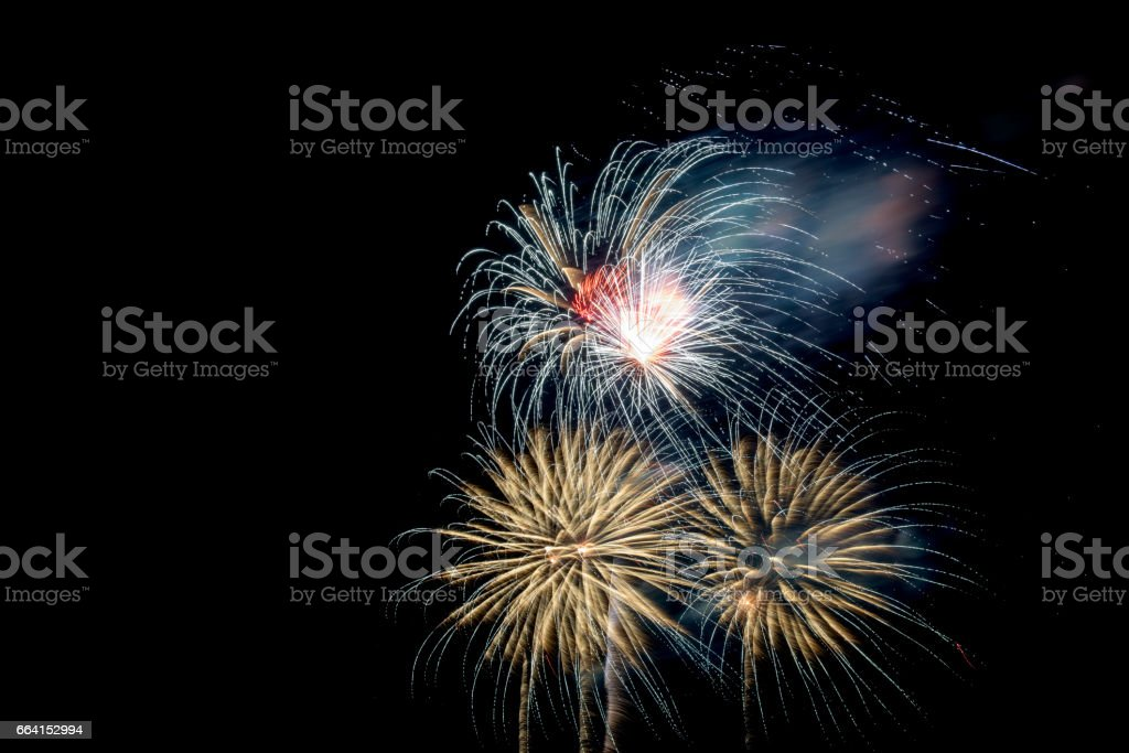 Fireworks light up the sky foto stock royalty-free