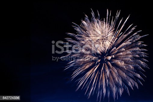 542714484 istock photo Fireworks light up the sky with dazzling display 542724336
