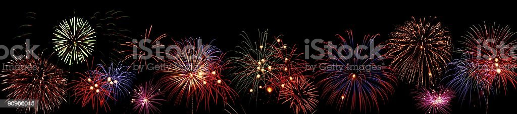 Fireworks line royalty-free stock photo