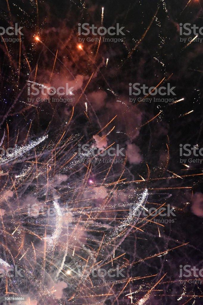 Fireworks Lower stock photo