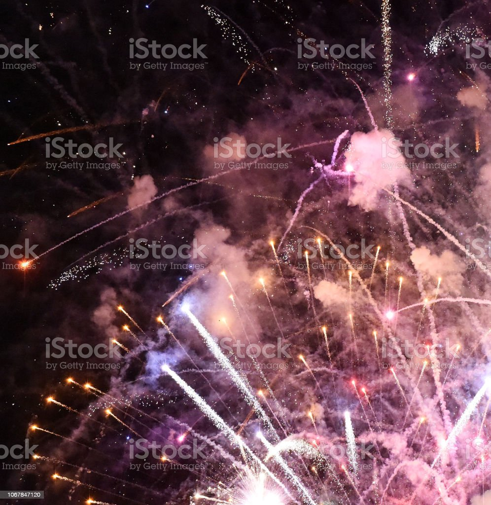 Fireworks Mix stock photo