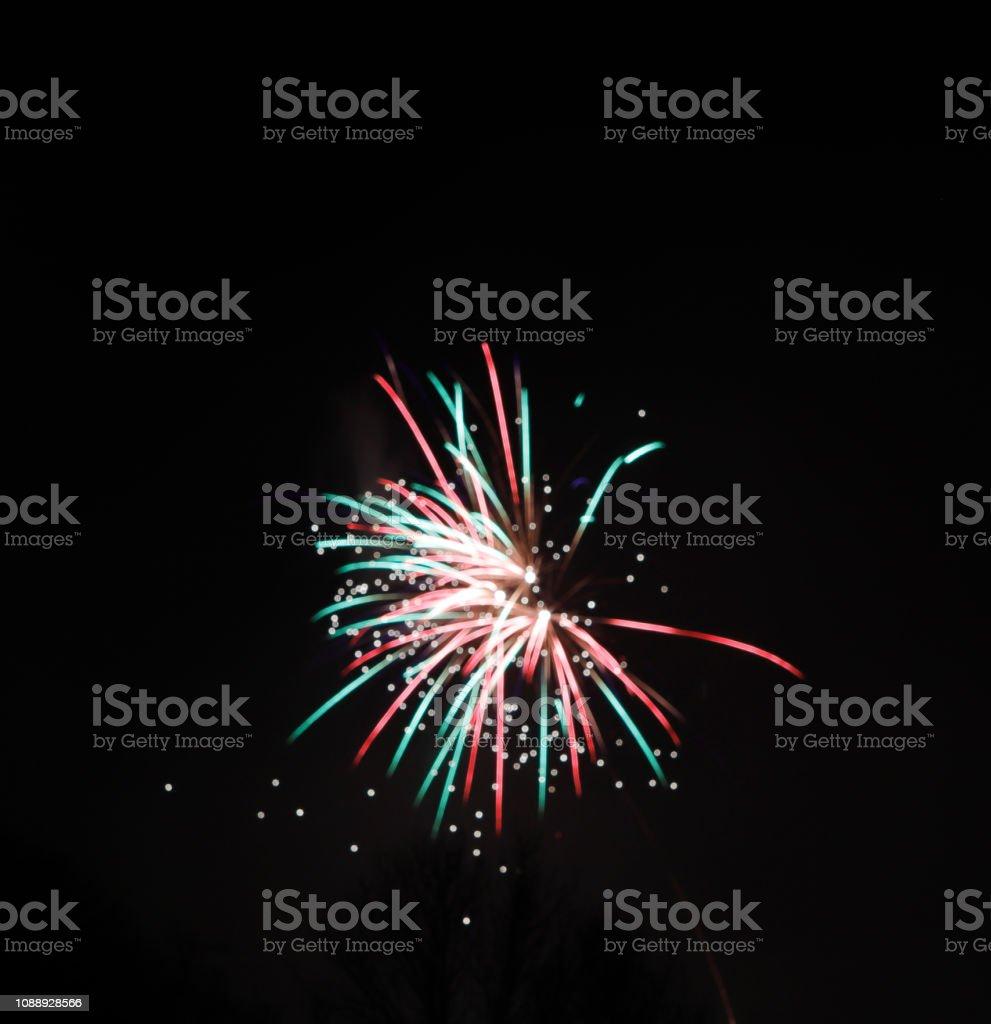 Vuurwerk, nieuwe jaarviering foto