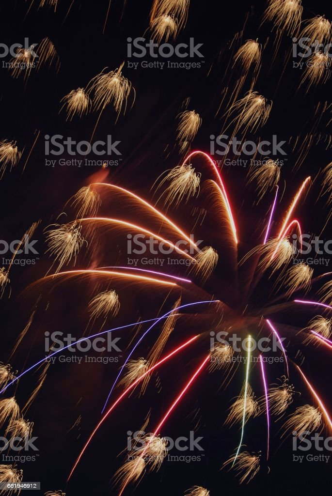 Fireworks on 4th of July royalty-free stock photo