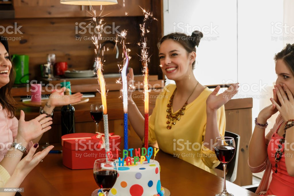 Outstanding Fireworks On A Birthday Cake Stock Photo Download Image Now Istock Personalised Birthday Cards Paralily Jamesorg