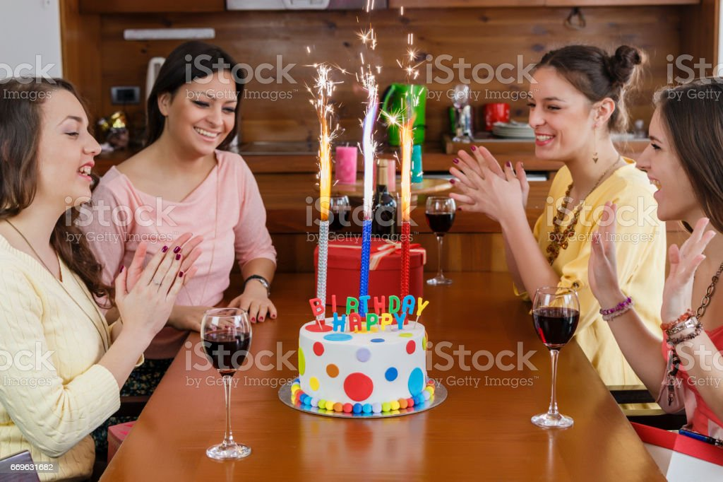Admirable Fireworks On A Birthday Cake Stock Photo Download Image Now Istock Funny Birthday Cards Online Bapapcheapnameinfo