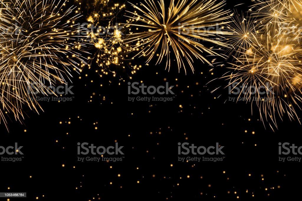 fireworks on black background fireworks on black background Abstract Stock Photo
