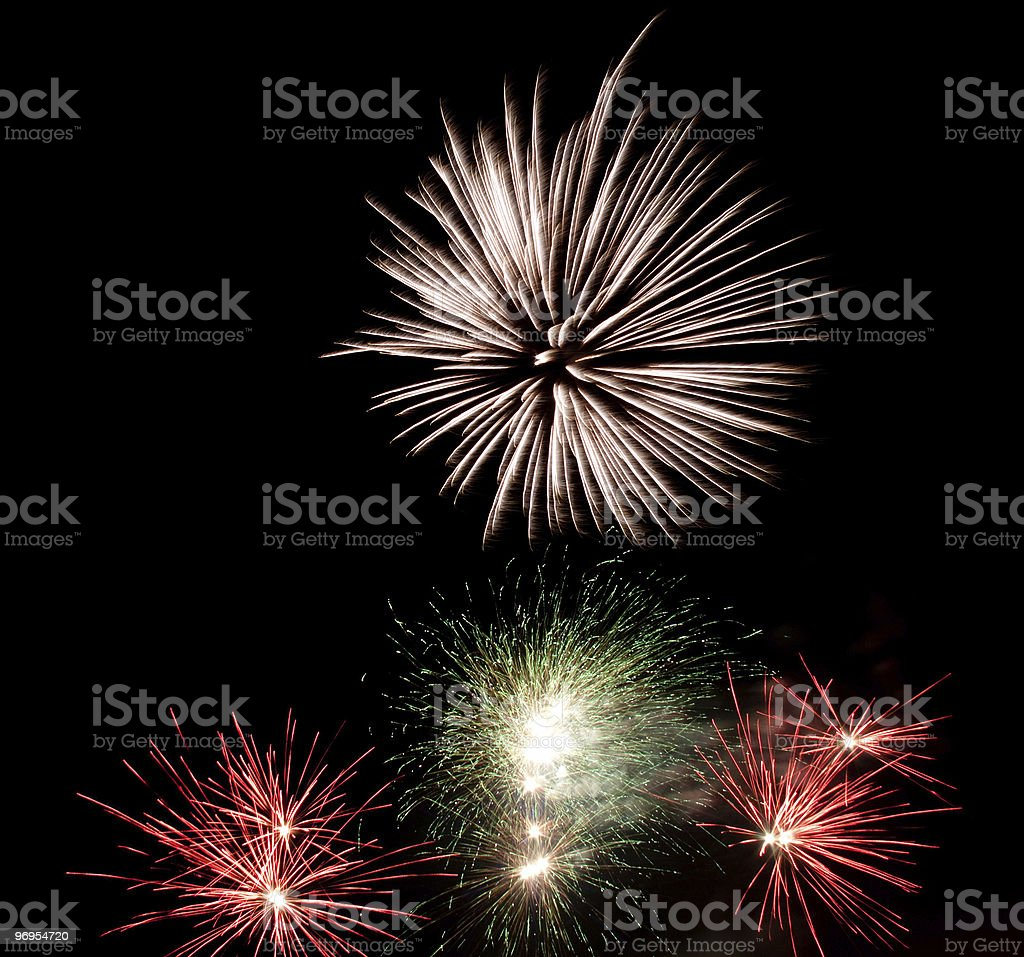 Fireworks on Chinese New Year Eve royalty-free stock photo