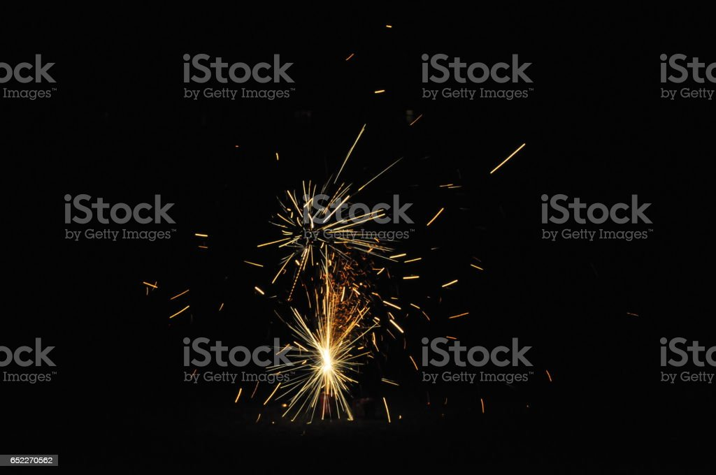 Fireworks on Guy Fawkes night in New Zealand stock photo
