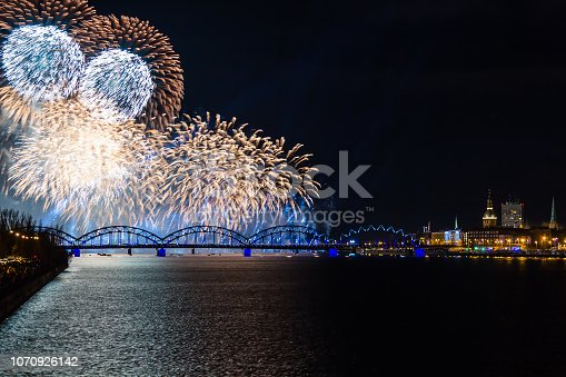 istock fireworks on Independence Day in Riga, Latvia 1070926142