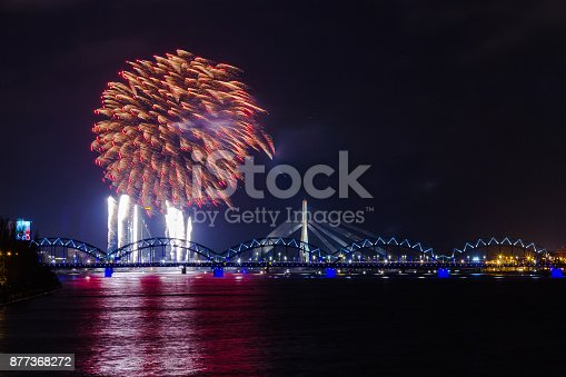 istock fireworks on Independence Day in Riga, Latvia 877368272