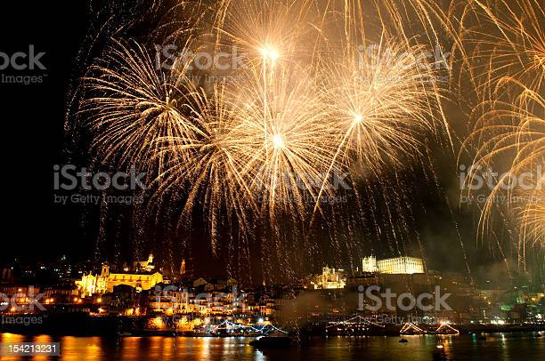 Fireworks On The St Johns Night Stock Photo - Download Image Now