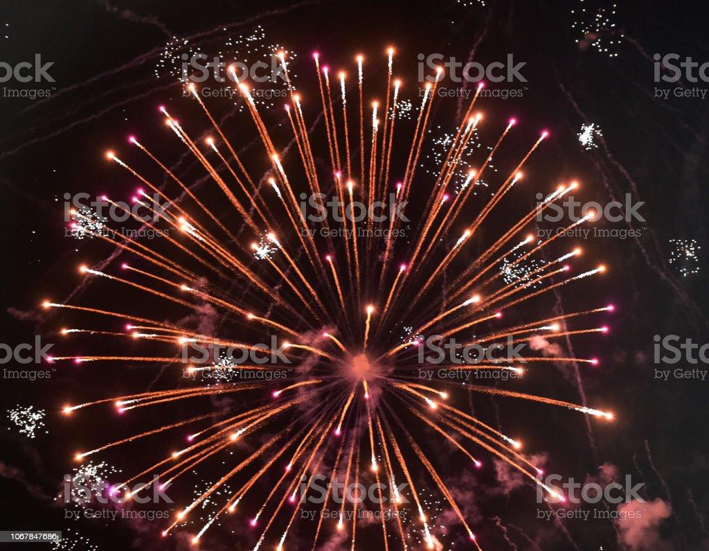 Fireworks Ornate stock photo