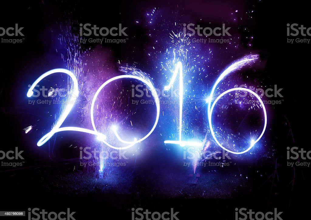 Fireworks party - 2016  New Year Display! stock photo