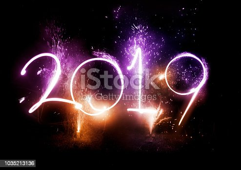 istock 2019 Fireworks party - New Year Display! 1035213136