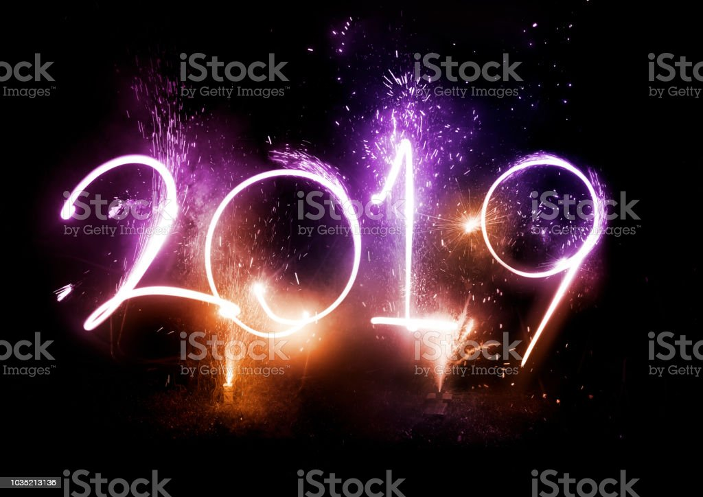 2019 Fireworks party - New Year Display! stock photo