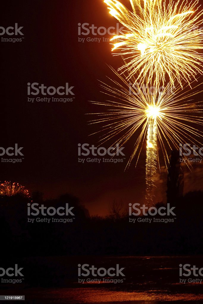 Fireworks party royalty-free stock photo