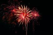 Fireworks, black background