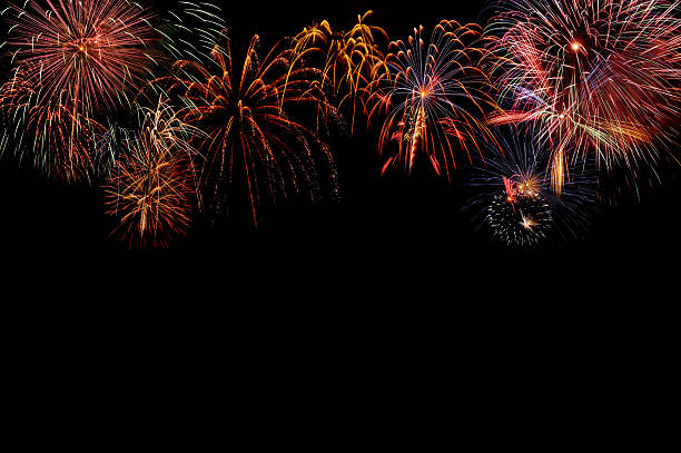 fireworks - firework display stock pictures, royalty-free photos & images