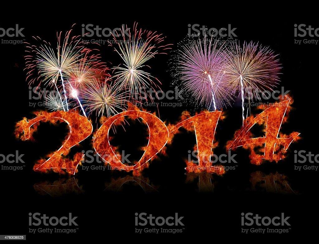 2014 fireworks. royalty-free stock photo