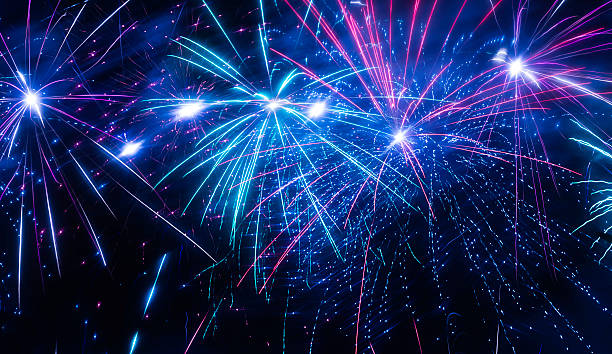 fireworks - july stock photos and pictures