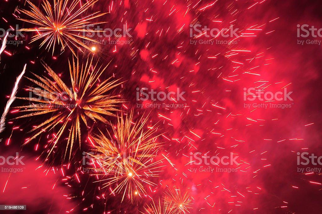 Fireworks. stock photo