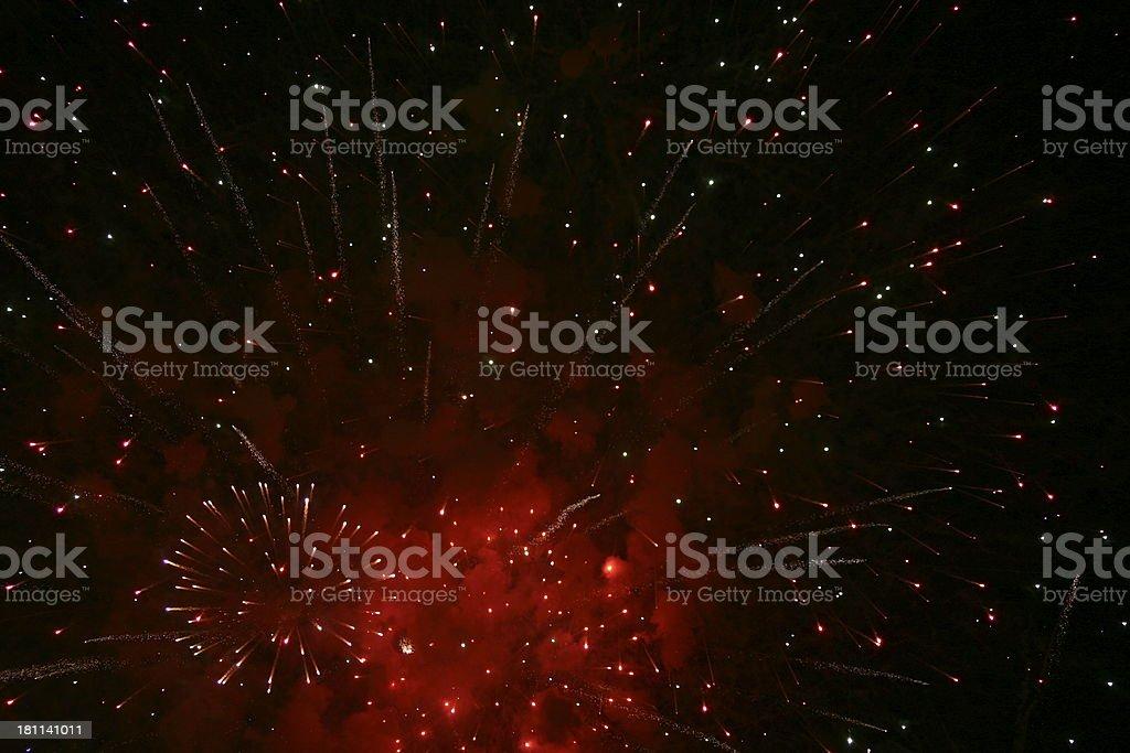 Fireworks Red stok fotoğrafı