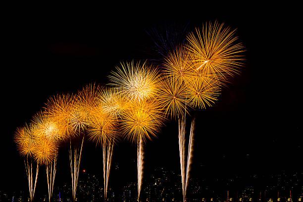 Fireworks reveillon Blackgrounds Fireworks Florianópolis Brasil, 2013 reveillon stock pictures, royalty-free photos & images
