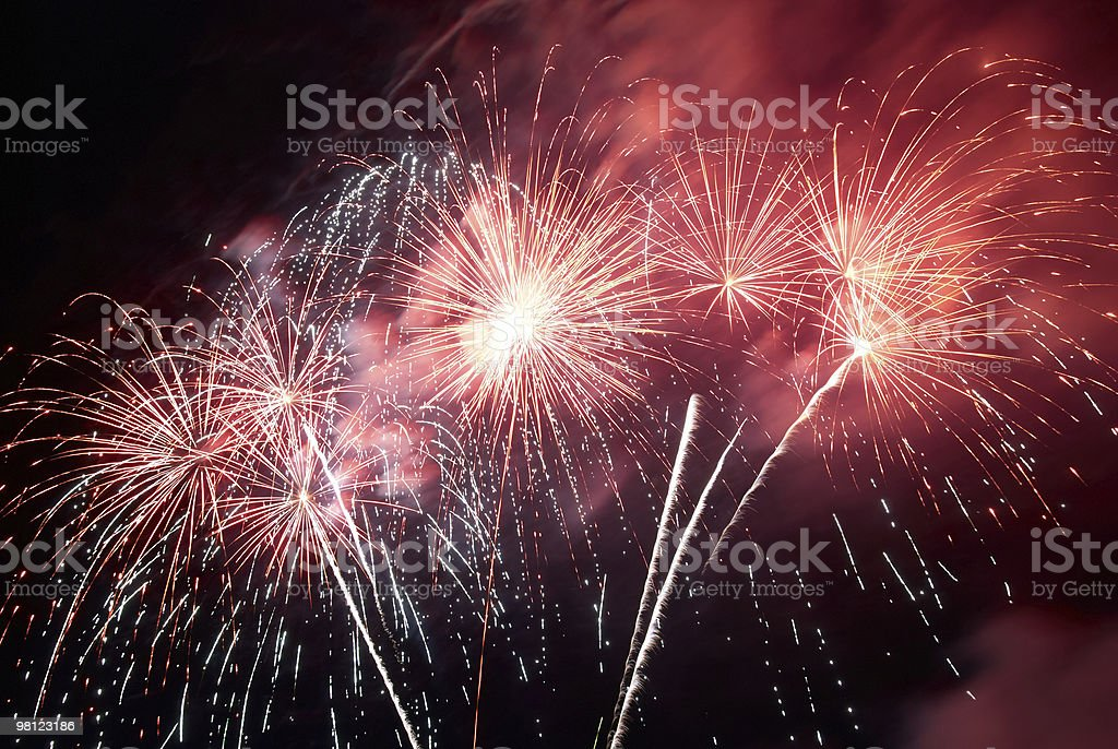 Fireworks, salute. royalty-free stock photo