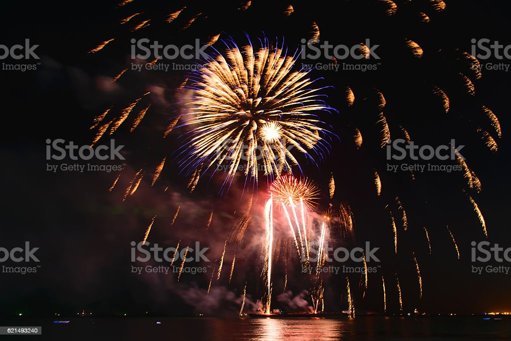 Feuerwerk in der Nacht Lizenzfreies stock-foto