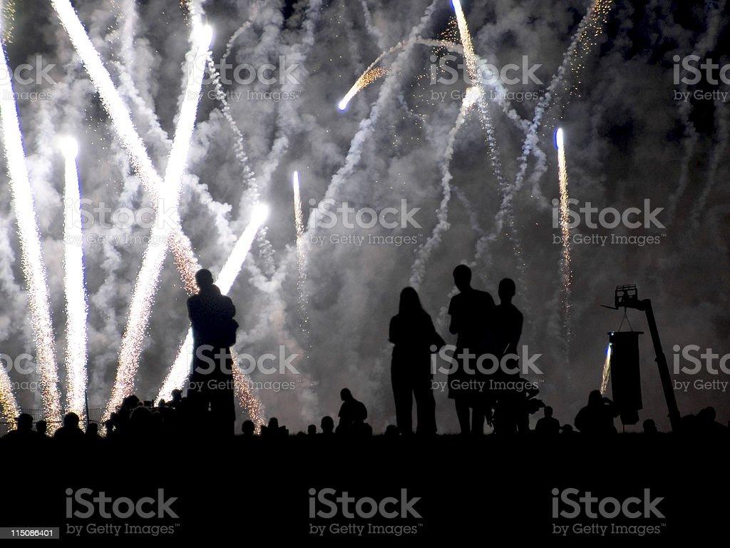 fireworks show royalty-free stock photo
