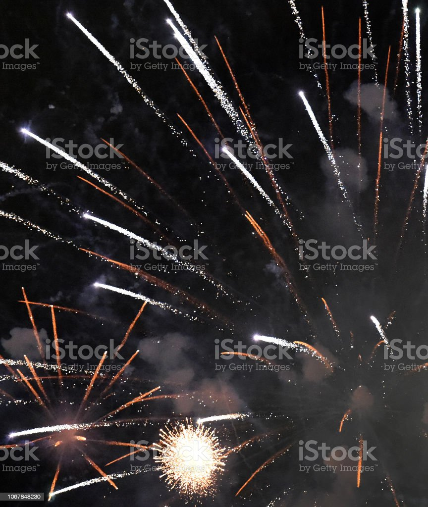 Fireworks Split stock photo