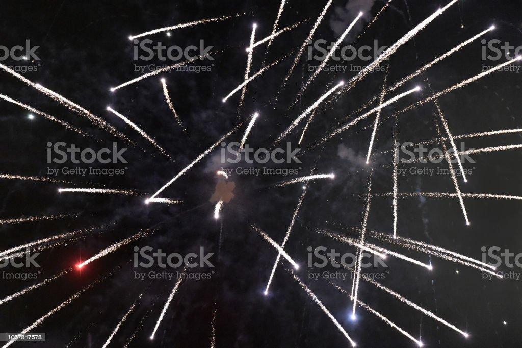 Fireworks Spread stock photo