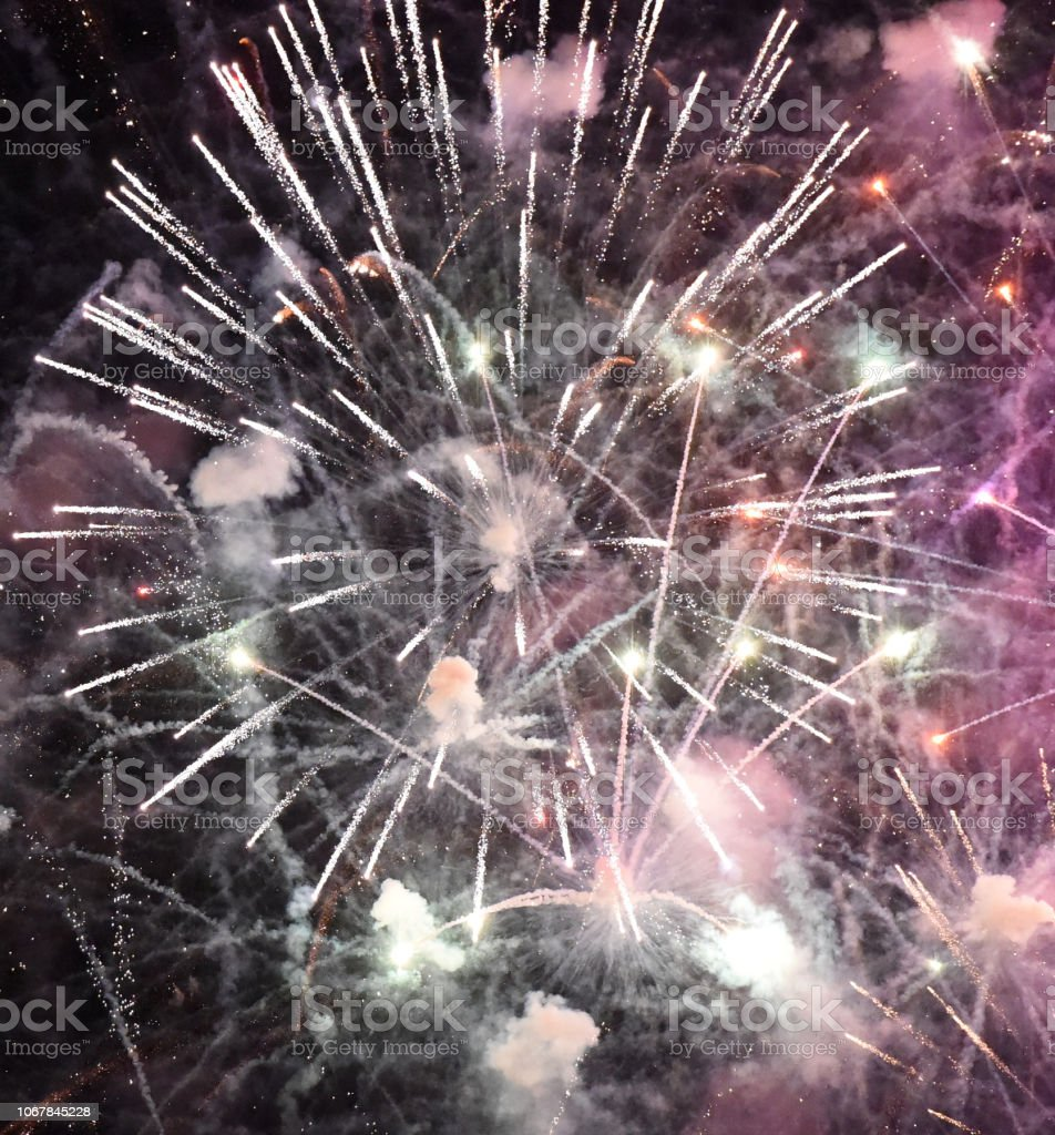 Fireworks Square stock photo